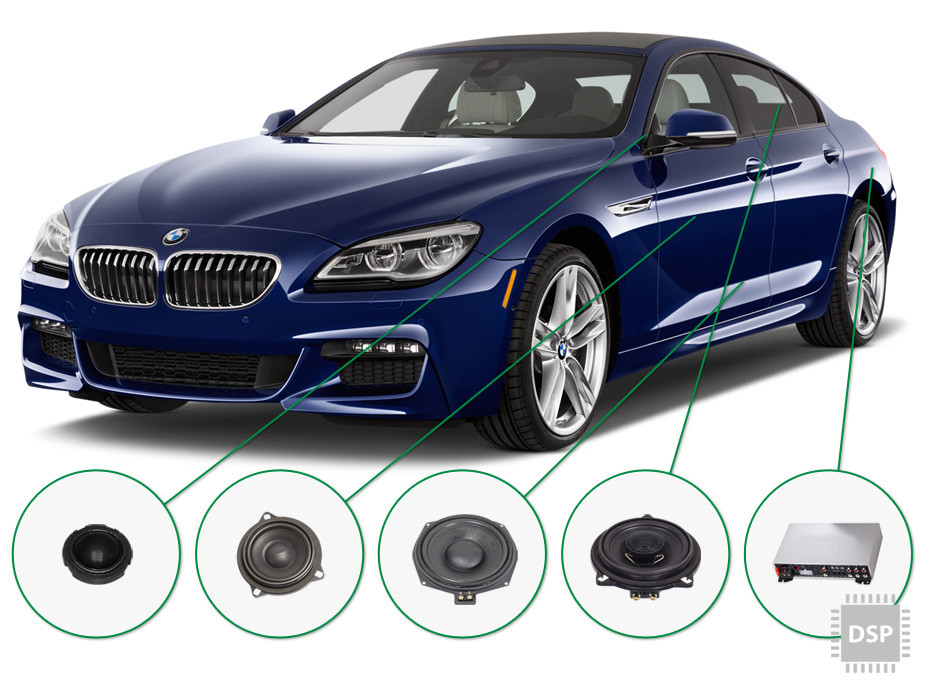 BMW 6 audio upgrade set 4
