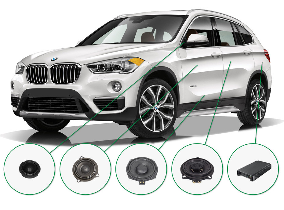 BMW X1 audio upgrade set 1