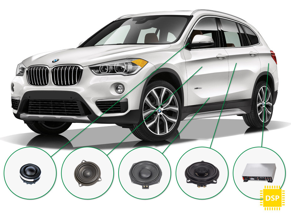 BMW X1 audio upgrade set 5