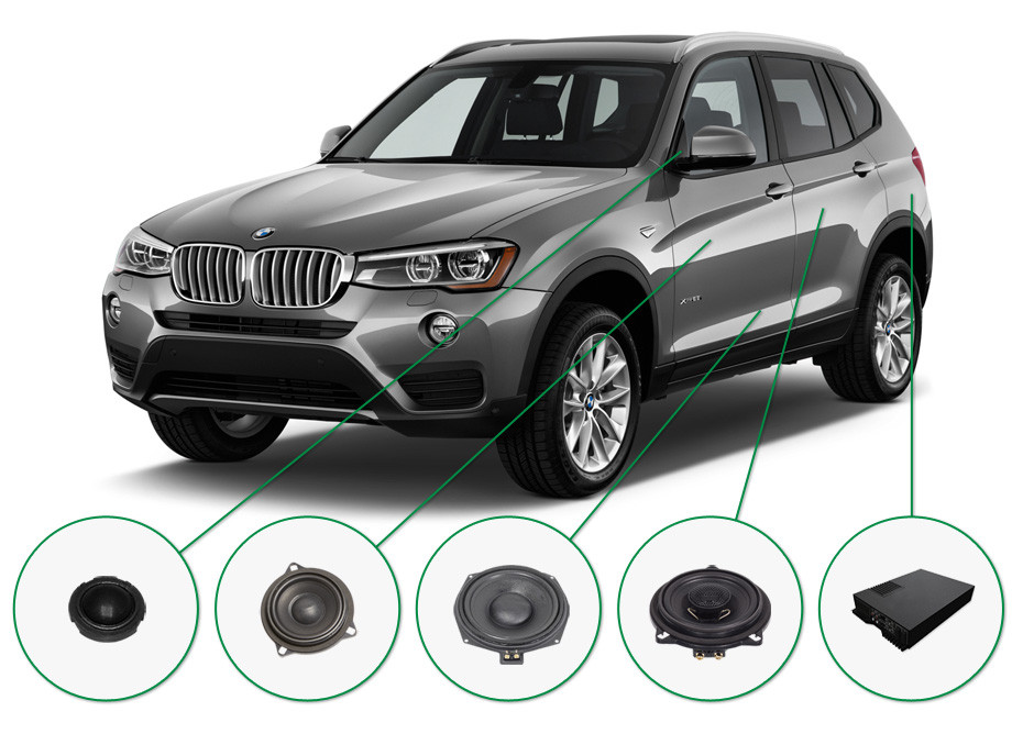 BMW X3 audio upgrade set 2