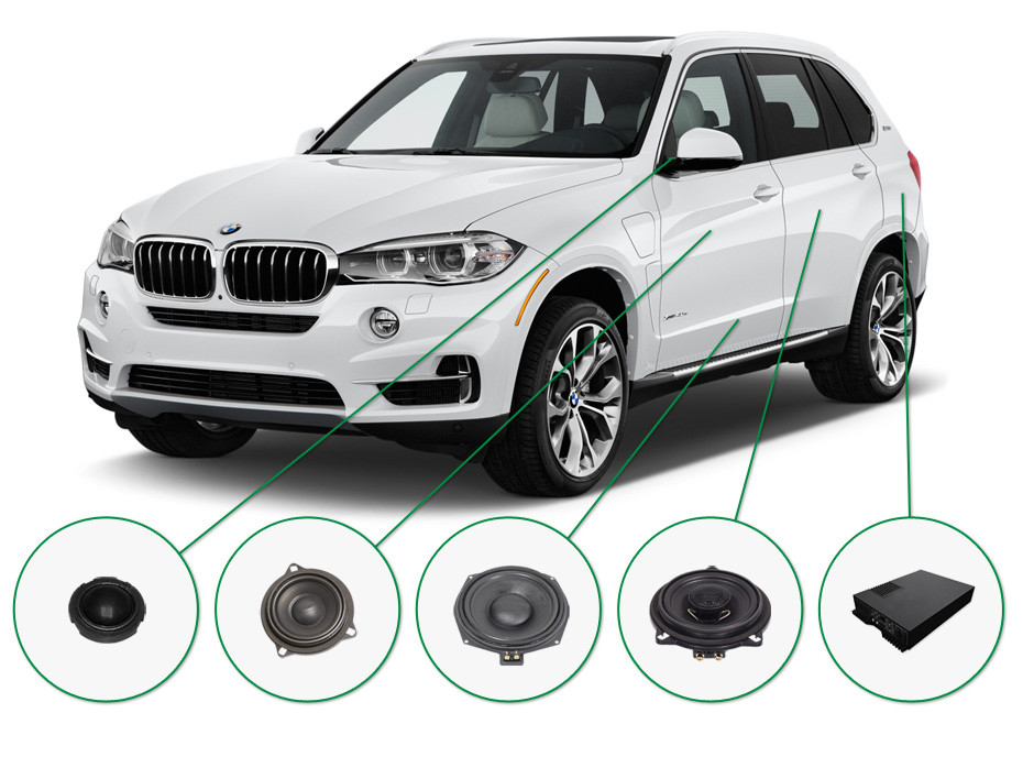 BMW X5 audio upgrade set 2