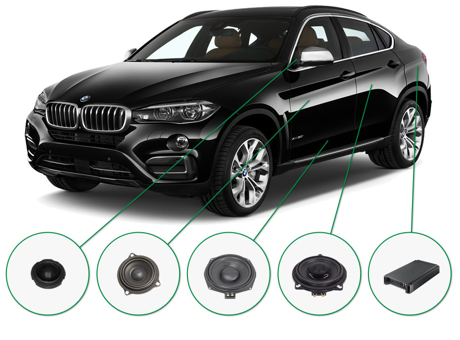 BMW X6 audio upgrade set 1