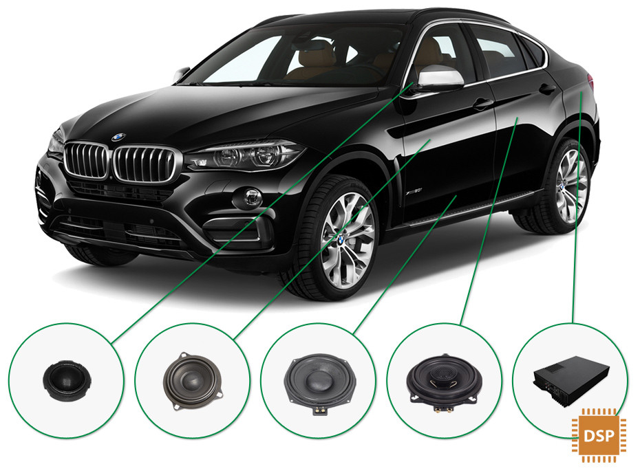 BMW X6 audio upgrade set 3