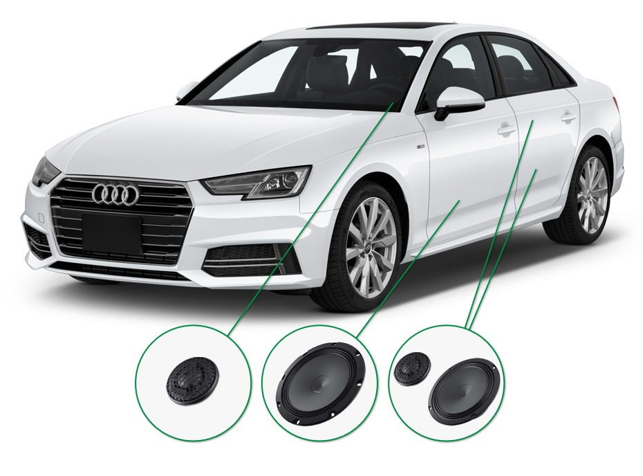 Audi A4 audio upgrade set 1