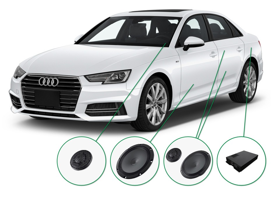 Audi A4 audio upgrade set 2