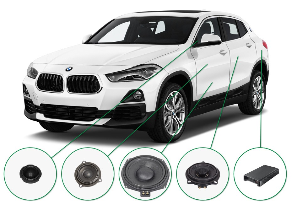 BMW X2 audio upgrade set 1