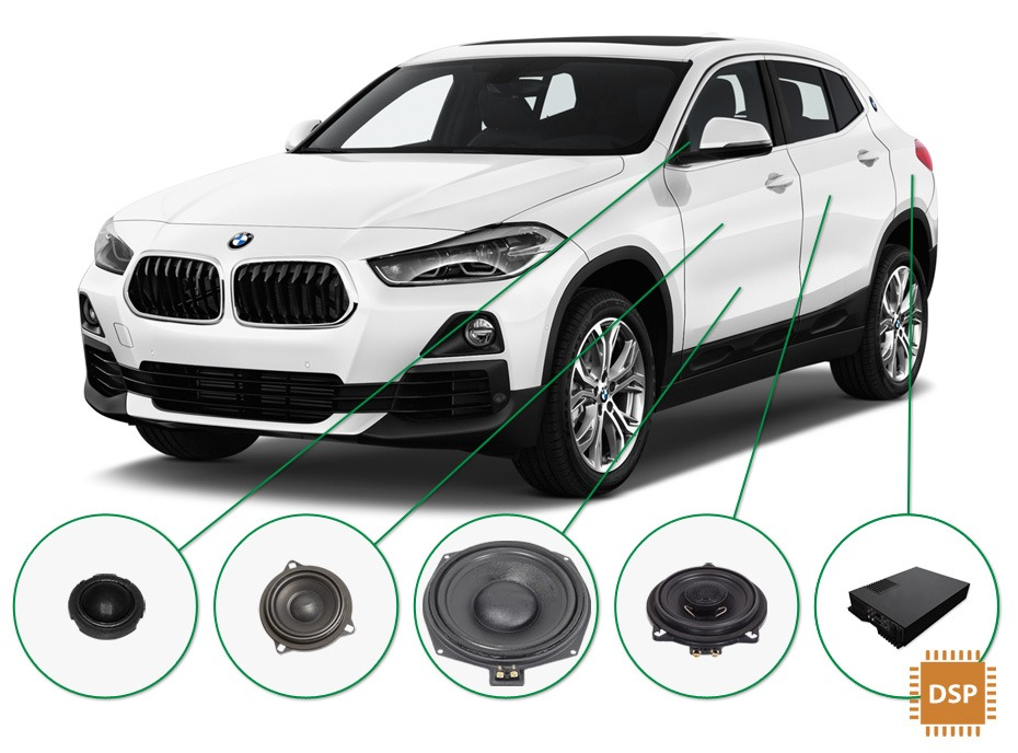BMW X2 audio upgrade set 3