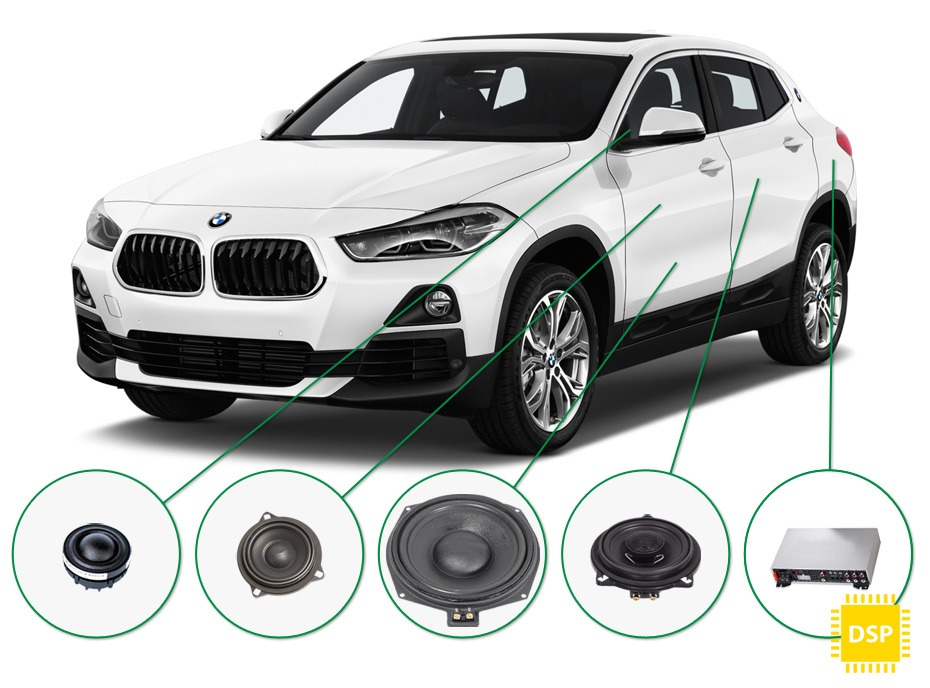 BMW X2 audio upgrade set 5