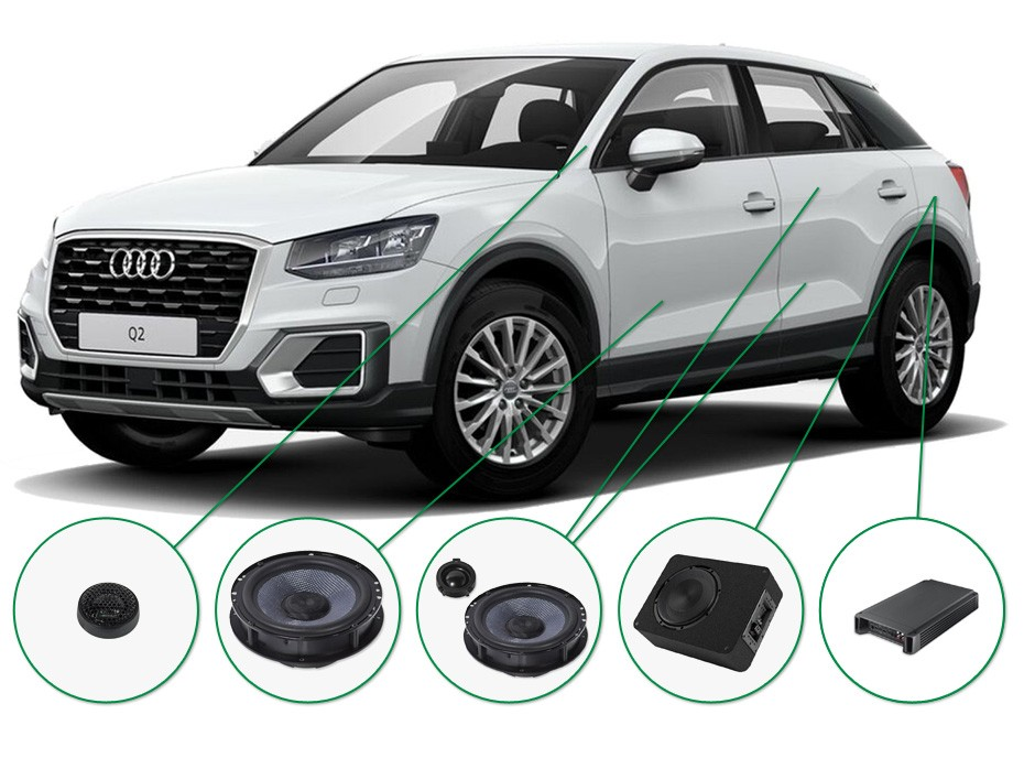 Audi Q2 Audio Upgrade Set 2