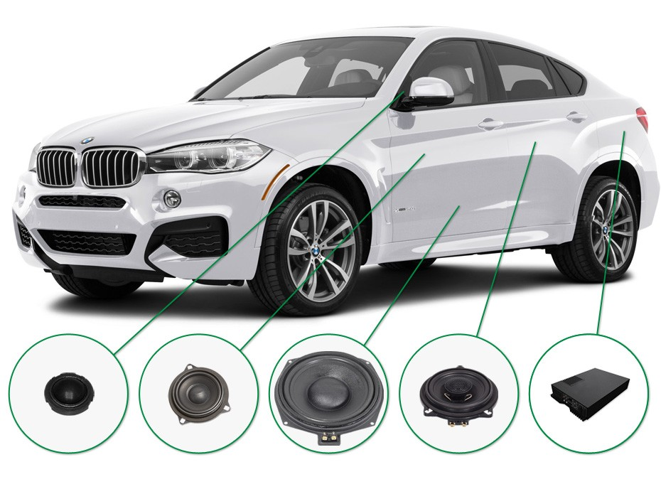 BMW X6 audio upgrade set 2
