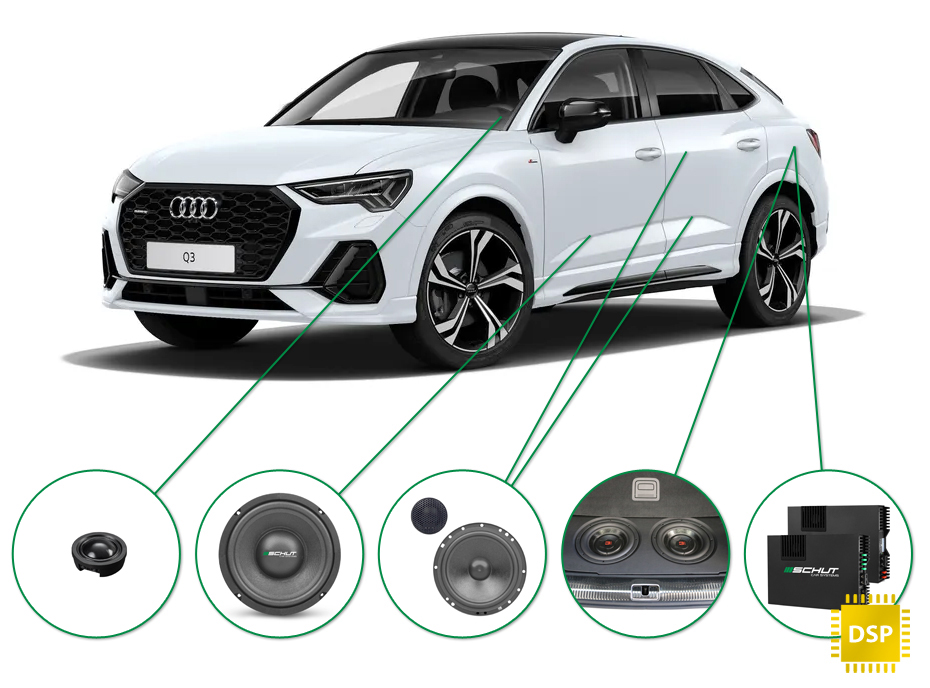 Audi Q3 audio upgrade set 1