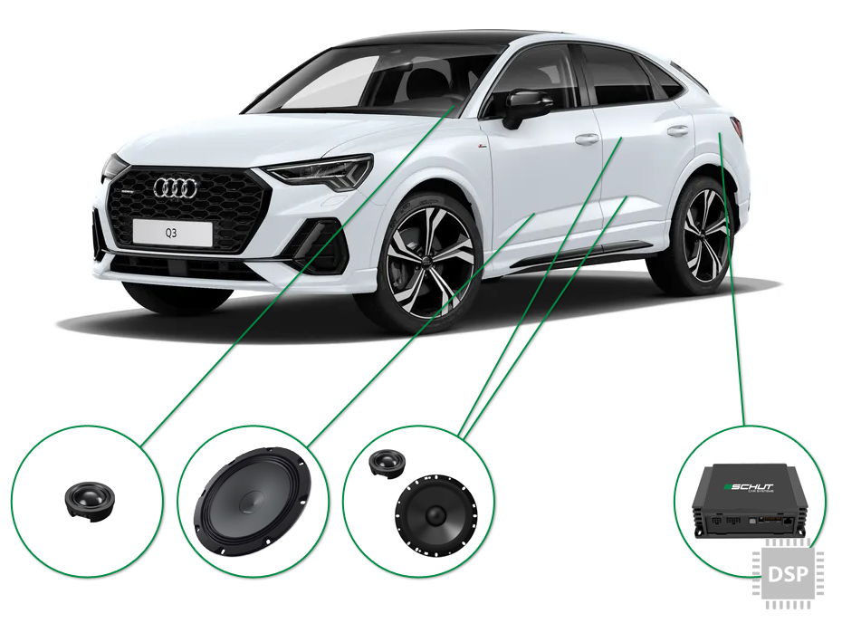 Audi Q3 audio upgrade set 4
