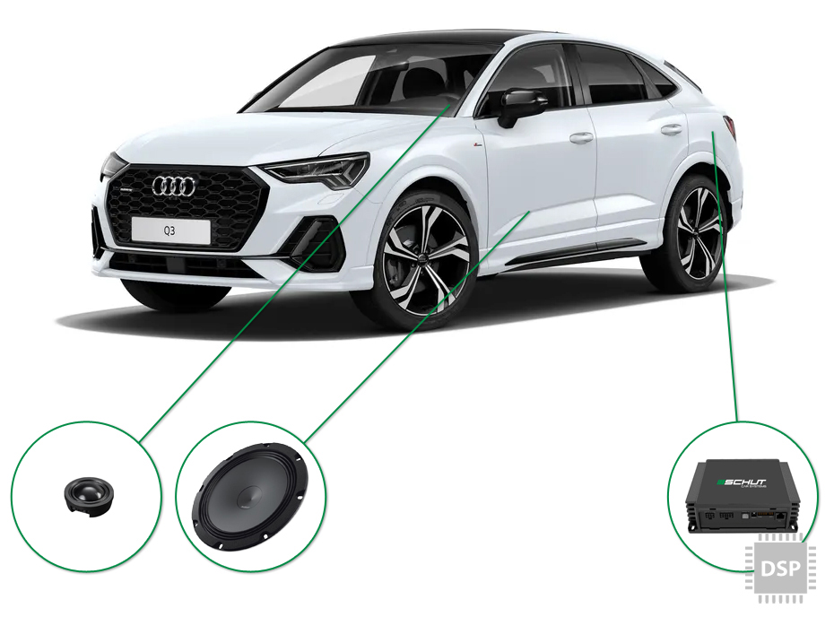 Audi Q3 audio upgrade set 5