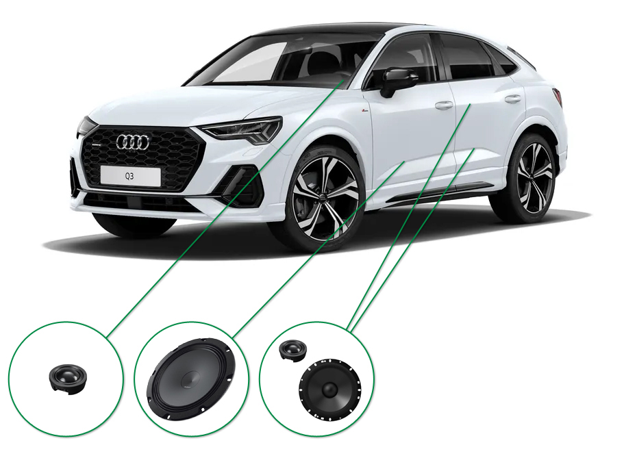Audi Q3 audio upgrade set 7