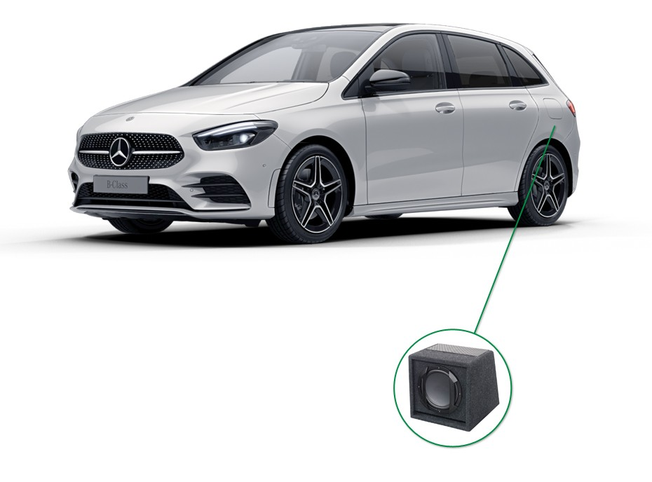 Mercedes B-Klasse audio upgrade set 6